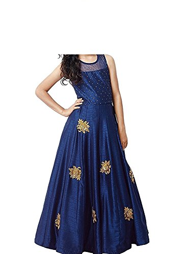 Cad Fashion Girls Maxi/Full Length Party Dress(semi-stitched)
