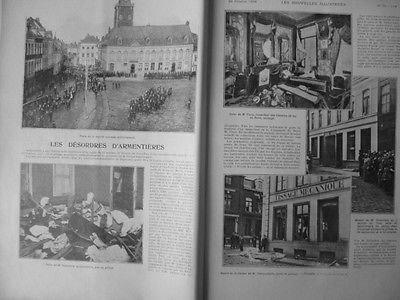 1903 NI10 ARMENTIERES OUVRIER INDUSTRIE TEXTILE PILLAGE DELAMBRE DECOURCHELLE par Actualités générales