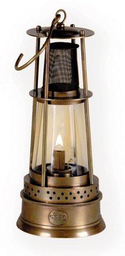 Authentic Models - Öllampe - Minenarbeiter-Lampe - Bergwerk-Lampe - Aluminium