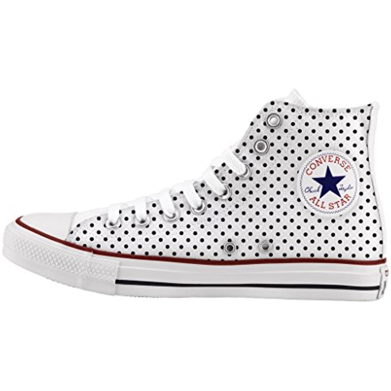 Converse All Star Personnalisé et imprimés - - - chaussures à la main   Mini pois - B01DQ3WE8S - 15ce7f