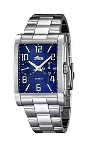 Lotus Reloj de Hombre de Cuarzo con Esfera Analógica Azul Pantalla y Plata Pulsera de Acero Inoxidable 18220/2