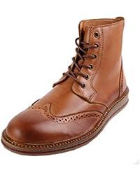 SHOOT Sh2168110 - Botas de Piel para hombre marrón marrón