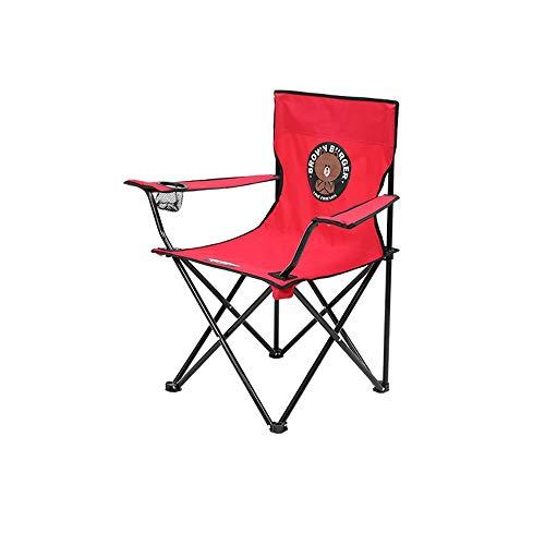 GMZDYTY Outdoor Klappstuhl, Cartoon Muster Camping Stuhl Tragbare Mazar Kleinen Stuhl Strand Camping Klappstuhl Stuhl (Size : Big) -