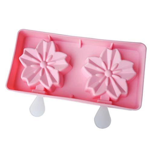 Laile Kuchen Schimmel Heiße verkaufende schöne Silikon-Eiscreme-Form mit Deckel-EIS am Stiel-Form Ausstechform für Marzipan Fondant Tortendeko Seife Form Kuchen Hochzeitstorte