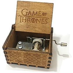 OMGXS Puro mano clásico Game Of Thrones caja de música caja de música de madera a mano artesanías de madera creativa Mejores regalos