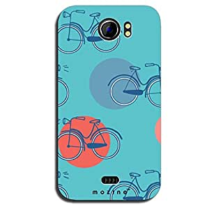 Mozine Cycle Pattern Printed Mobile Back Cover For Micromax A110
