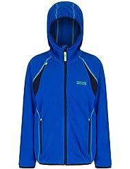 Regatta Boys & Girls Chromium Stretch Full Zip Fleece Hoodie Jacket