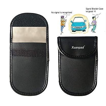 XuanPad-mit-Signal-Blocker-case-Keyless-Entry-Fob-Signal-mit-Tasche-AntiTheft-Lock-Beutel-Lenkrad-Schloss-gesunde-Handy-zum-Schutz-der-Privatsphre-Schwarz