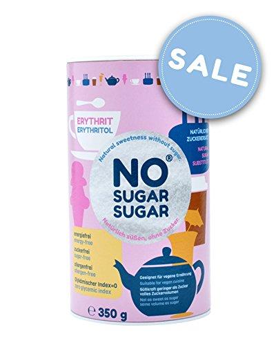 NO SUGAR SUGAR | Erythrit (350g Streudose) Zuckerersatz Low-Carb & kalorienfrei