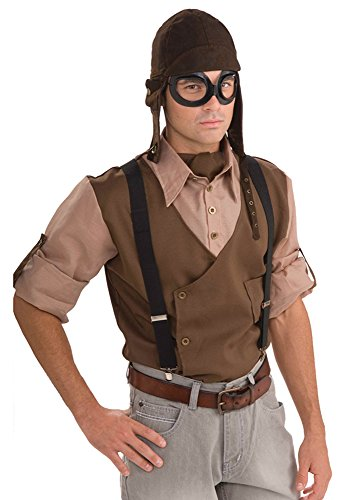 Steampunk Aviator Kit Costume Pilot Fancy Dress (Steampunk Kit Für Männer)