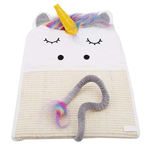 Scratcher Bett Matte Pad Katzenkratzbrett Kratzbaum Kätzchen Schleifen Nagel Hängen Cat Scratcher Sisal Hanf Spielzeug (weiß) ()