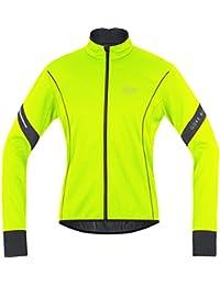 GORE BIKE WEAR Jacke Power 2.0 Soft Shell - Chaqueta de ciclismo para hombre, color amarillo flúor / negro, talla M