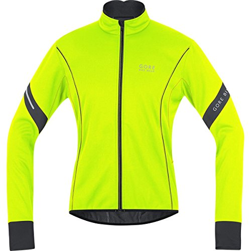 GORE BIKE WEAR Herren Warme Fleece Soft Shell Rennrad-Jacke, GORE WINDSTOPPER, POWER 2.0 WS SO, Größe: L, Neon Gelb/Schwarz, JWMPOW