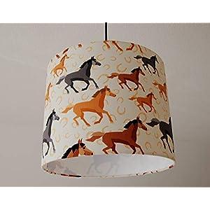 """Deckenlampenschirm""""Pferde"""" D 30cm. Farbe und Größe auf Anfrage"""