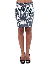 Vero Moda Skirt Women Blue 10193728 VMMARRRAKECH N/W Short Skirt EXP Snow White/Blue