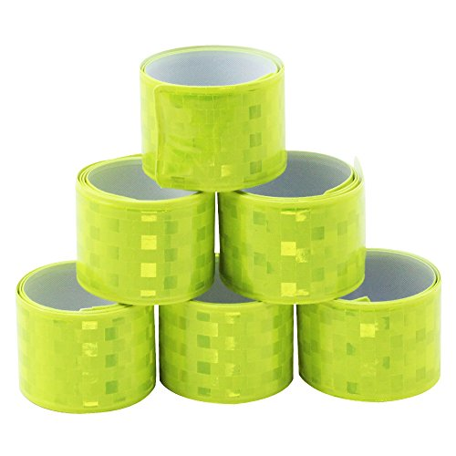 com-four® 6er Set Reflektorbänder, Schnapparmbänder ideal für Jogger und Radfahrer (06 Stück - Schnapparmband)