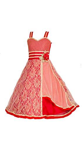 My Lil Princess Baby Girls Birthday Party wear Frock Dress_Pink Golden Beeds_Net...