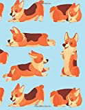 Corgi Music Manuscript Notebook: Cute Corgi Blank Music Sheets Notebook with Staff Paper for Dog Lovers  - Music Composition Book - Blank Sheet Music ... Boys Teens Kids Women  (100 Pages 8.5 x 11)...