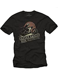 Ropa Moto Hombre - Camiseta Cafe Racer originales - R100 Faster Faster