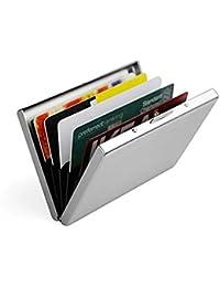 Porta Carte di Credito in Acciaio per Uomini e Donne - HUALANS® Portafoglio Elegante Viaggi - Business, ID, Assicurazioni, di Debito ecc