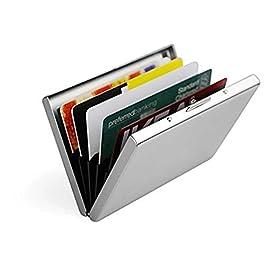 [2 Pezzi]Porta Carte di Credito in Acciaio per Uomini e Donne – Hualans® Portafoglio Elegante Viaggi – Business, ID…