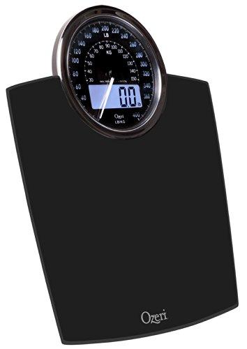 Bilancia digitale da bagno Ozeri Rev con quadrante elettromeccanico (nera) - 6