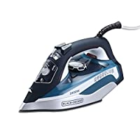 Black and Decker X2150-B5 Steam Iron with Ceramic Soleplate Auto Shut-Off, 2400 W - Blue