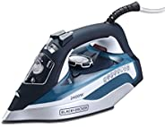 Black+Decker X2150-B5 2400W Steam Iron With Ceramic Soleplate, Blue, 2 Year Warranty
