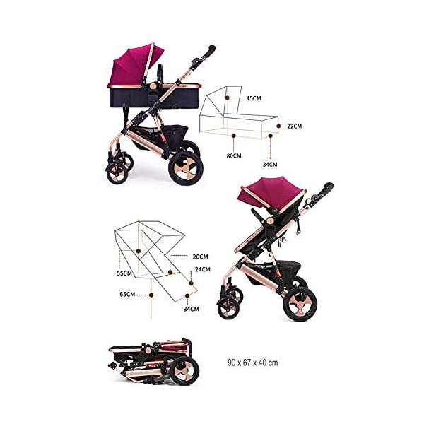 FAFY Kids Pram Travel System 2 In 1 Stroller Buggy Pushchair Reverse Travel System Can Sit Or Lie Baby Stroller,Grey  UNIQUE SHAPE DESIGN Adopt unique safety design concept to make the stroller frame more stable and safe; Reinforced double steel springs absorbing vibrations ensure the safety of your baby's brain and bones FRIENDLY MATERIAL Lycra /Oxford fabric fabrics are durable and dirt-proof, easy to clean; Rust-proof frame is fire retardant, folding easily. solid wheels are wear-resistant, explosion-proof and shock-absorbing. QUICK-ADJUSTING : Adjustable canopy,Adjustable handlebar meet the demands of people in different height, do not need to bend over; One-step braking and release braking 8
