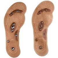 BIEE 1 Paar Magnetische Therapie Einlegesohlen Acupressure Massage Schuheinlagen für Fußpflege Größe 34-40 preisvergleich bei billige-tabletten.eu