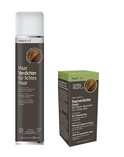 Kombi-Pack: Hairfor2 300ml Spray + 25g Streuhaar (Schwarz)