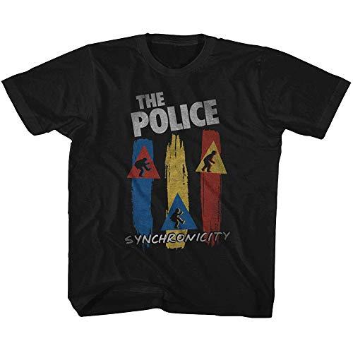 The Police British Rock Band Synchronicity - Camiseta de Manga Corta para niño - Negro - 3 años