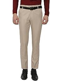 Inspire Light Brown Slim Fit Formal Trouser For Men
