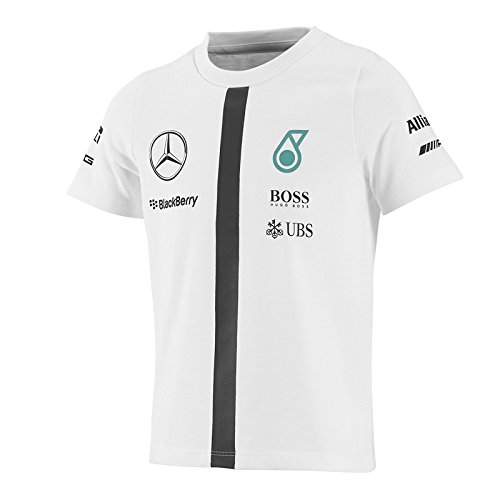 Mercedes AMG Petronas F1 infantil teamline T-Shirt, réplica de la cam