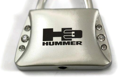 dantegts-hummer-h3-jeweled-bolso-llavero-etiqueta-logotipo-clave-cadena-clave-anillo-llavero-lanyard