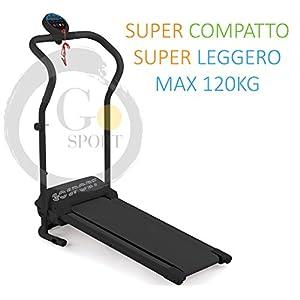 GO SPORT Tapis ROULANT Elettrico Pieghevole SALVASPAZIO Dispaly a LED 500 W / 2,5 HP Picco - Ideale per Allenamento A… 2 spesavip