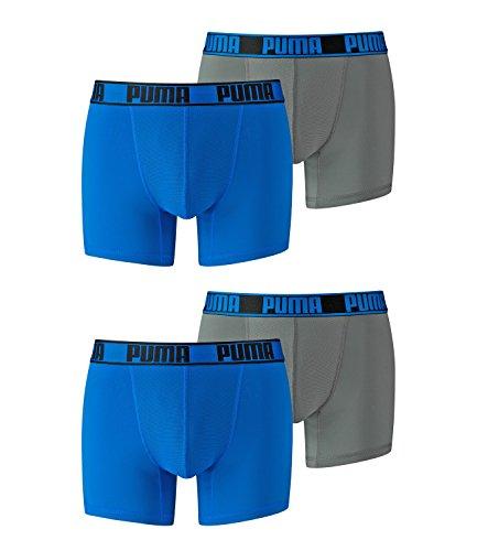 Puma Herren Active Boxer 4er Pack Blue Grey (394)