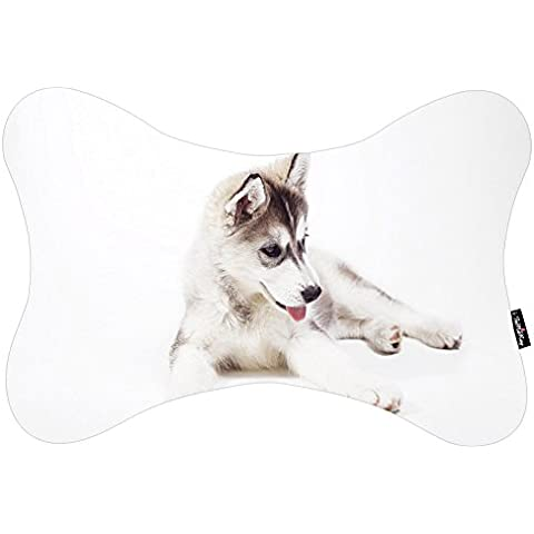 i FaMuRay Bone Shaped Cuscino da Viaggio Siberian Husky Puppy