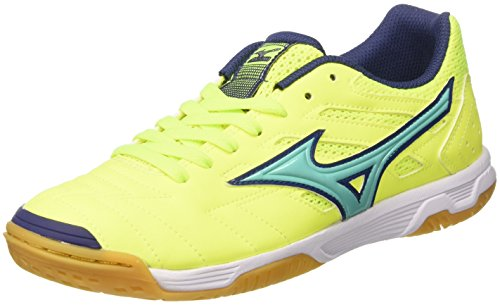 Mizuno Sala Classic In, Chaussures de Football Homme Multicolore (SafetyYellow/Turquoise)