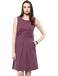 Marie Lucent Women's Polyester Purple Dress (ML4017D05)