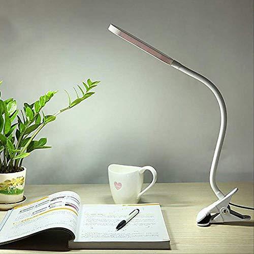 Hyl tischlampe schreibtischlampen usb led clip auf tischlampe flexibel einstellbar led clipper schreibtisch licht student bett lesebuch lampe b -