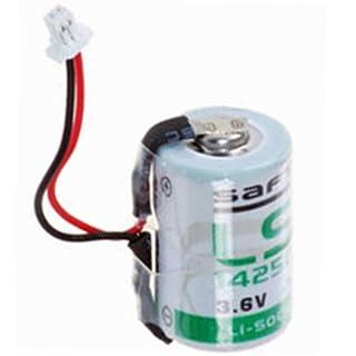 Saft Lithium 3,6V Batterie LS14250 mit Kabel und Stecker mittig an der Zelle raus
