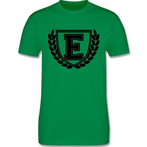 Anfangsbuchstaben - E Collegestyle - Herren Premium T-Shirt Grün