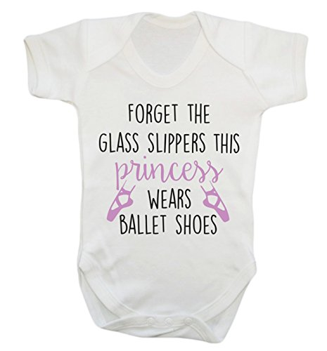 Forget the glass slippers this princess wears ballet shoes baby vest bodysuit babygrow