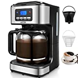 Coffee Maker, Aicok Filter Coffee Machine, 12 Cup Programmable Coffee Makers, 1.5 liters