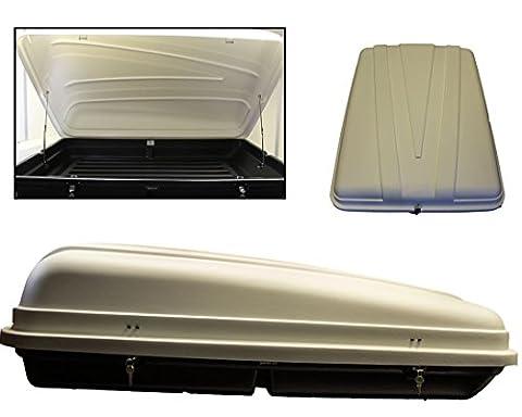 WHITE Autoplas 350 Capacity Litre Roof Box