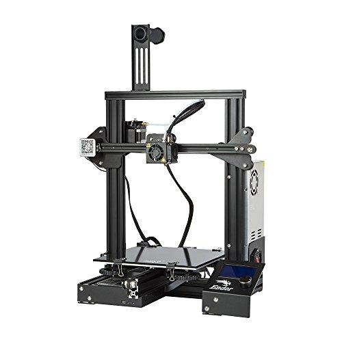 Comgrow Creality 3D Imprimante 3D Ender-3X avec Plaque en Verre Trempé et Cinq Bus 220 * 220 * 250...