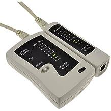 LAN Red Cable Tester Para RJ45 Ethernet & RJ11 ADSL Plomos