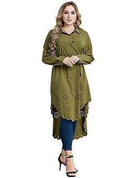 Donne Abbigliamento musulmano Abbigliamento casual Camicetta Camicia Manica lunga manica lunga Camicia Camicetta...