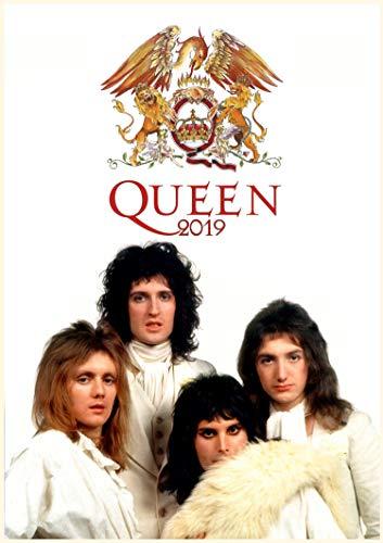 2019 Kalender [12 pages 20x30cm] Queen Rock Group Vintage Musik Plakats